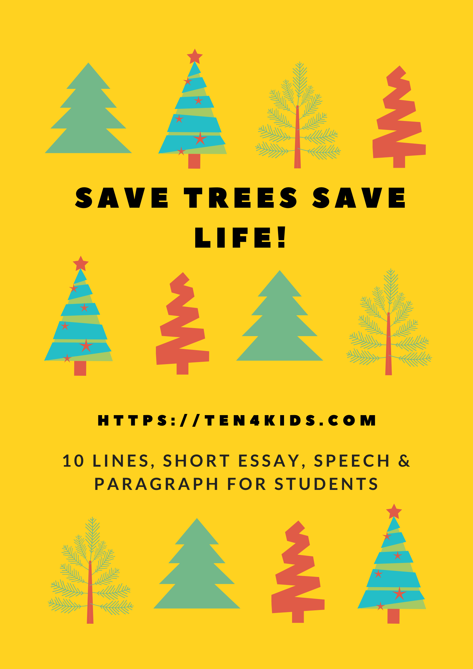 Save trees save life essay for students