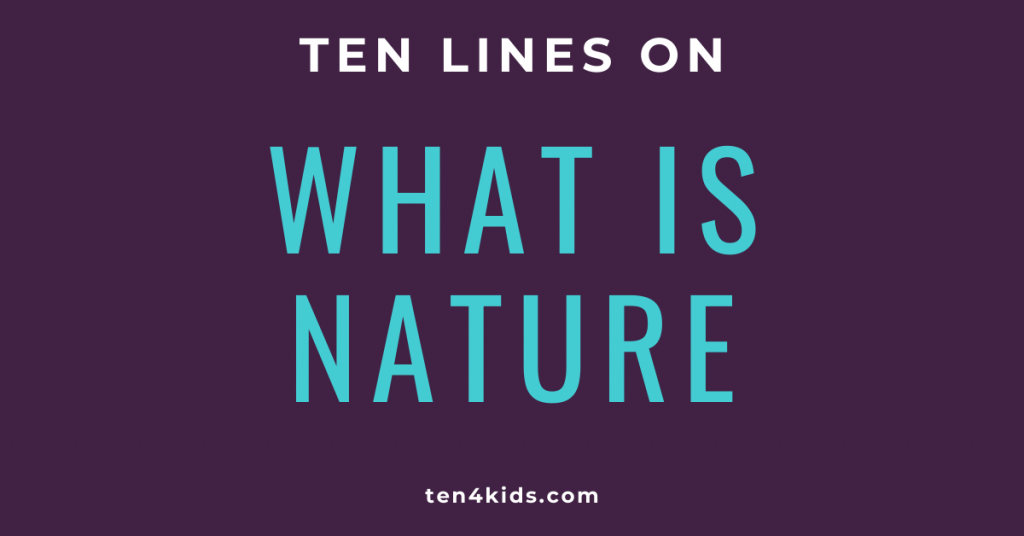 10 LINES ON WHAT IS NATURE